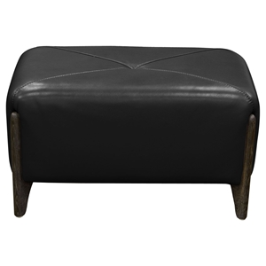 Monaco Rectangular Ottoman - Black