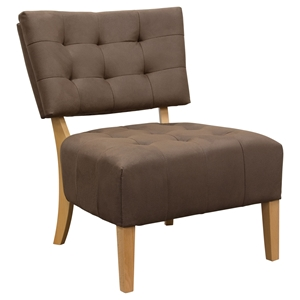 Oliva Accent Chair - Dark Brown, Espresso, Tufted