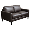 Omega Full Leather Loveseat - Dark Chocolate - DS-OMEGALODC