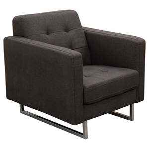 Opus Arm Chair - Tufted, Chocolate