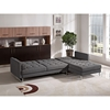 Opus Sectional with Right Arm Facing Chaise - Convertible, Tufted, Gray - DS-OPUSRFSECTGR