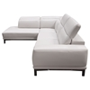 Pearl 2-Piece Sectional with Left Facing Chaise - Adjustable Headrest, Bone - DS-PEARLLF2PCSECTBO