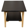 Perch Rectangular Cocktail Table - Black, Oak, Shelf - DS-PERCHCTBL
