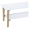 Perch Rectangular Cocktail Table - White, Oak, Shelf - DS-PERCHCTWH