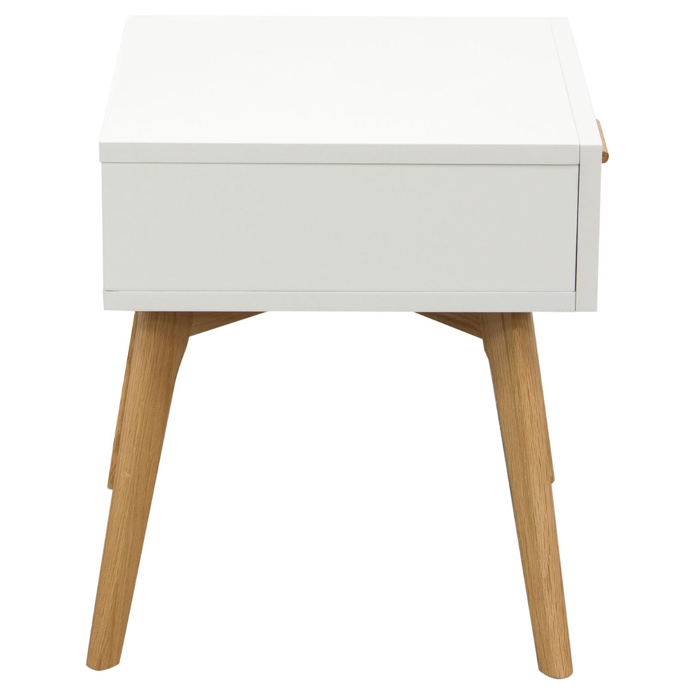 Perch end table 1 drawer white oak dcg stores for 1 drawer table