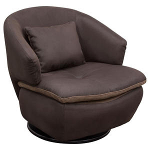 Rio Accent Chair - Swivel, Brown