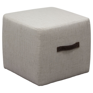 Ritz Cube Ottoman - Sand, Handle