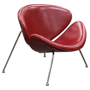 Roxy Accent Chair - Chrome, Vintage Red (Set of 2)