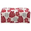 Scarlett Patterned Fabric Ottoman - Rouge Floral - DS-SCARLETTROREPT