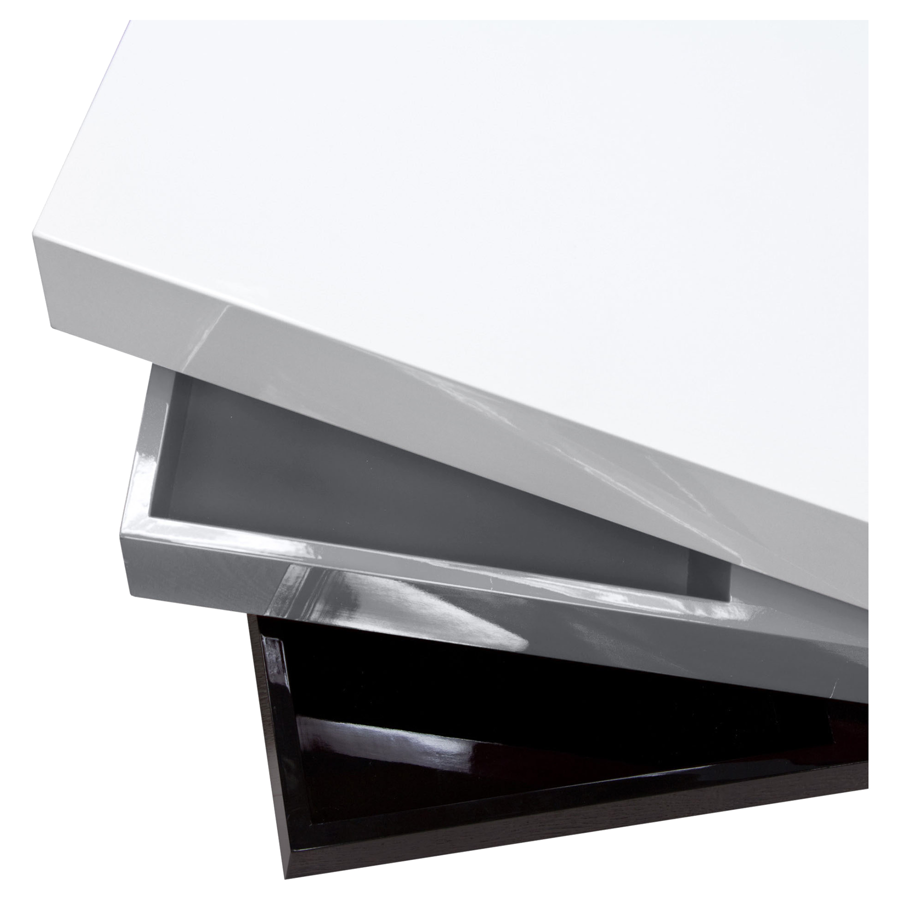 ... Spark Tri Color Cocktail Table   Rotating, Storage, White, Gray, Black  ...