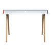 Tangent Tri-Color Desk Station - White, Orange, Gray - DS-TANGENTDEWH