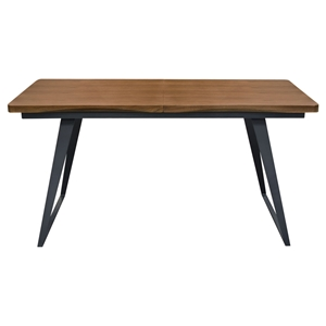 Tempo Extension Dining Table - Espresso, Black
