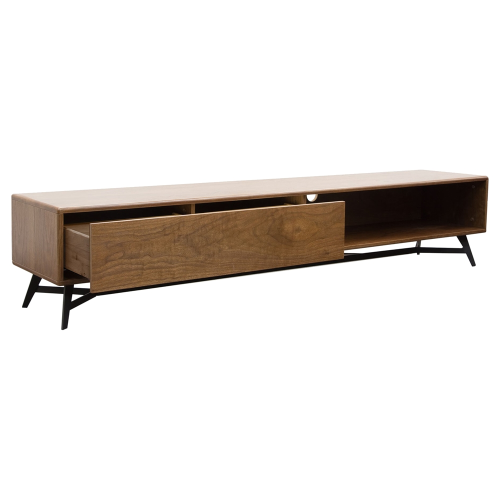 Tempo Low Profile Entertainment Cabinet 1 Drawer Shelf