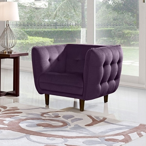 Venice Fabric Chair - Button Tuft, Purple