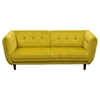 Venice Fabric Sofa - Button Tuft, Yellow - DS-VENICESOGD