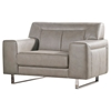 Vera Leatherette Sofa and Chair - Sandstone, Chrome - DS-VERASCSS