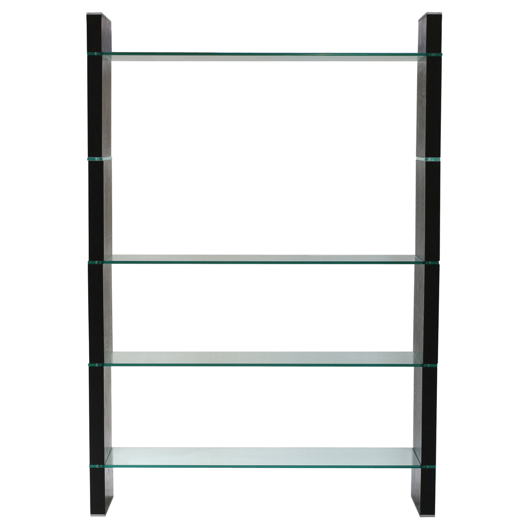 Glass Bookcase - Dark Walnut - DS-W285WA