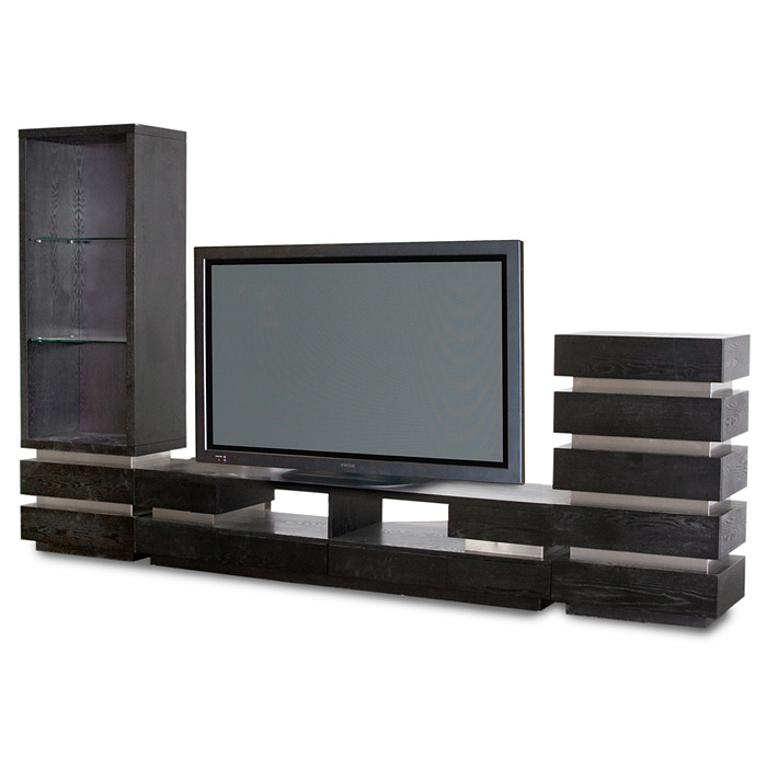Five Drawer Media Pedestal with Stainless Steel Accents - DS-W406