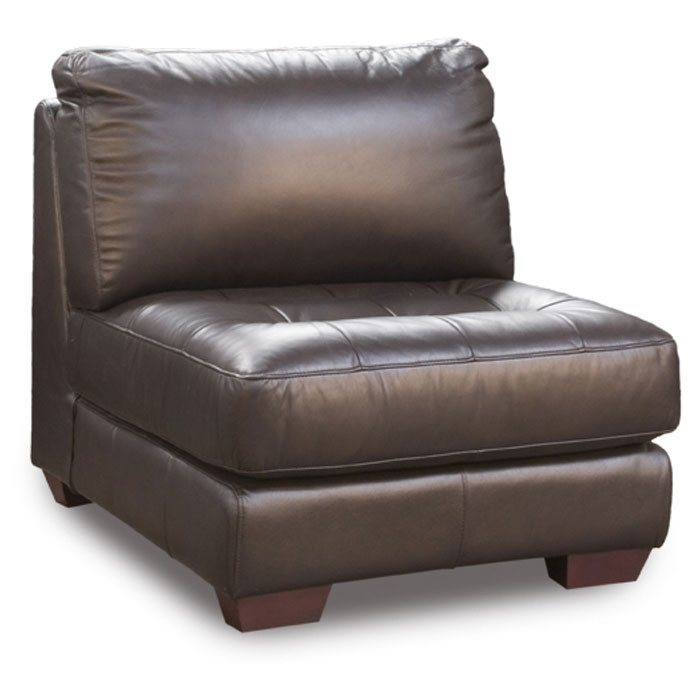 Zen Armless Leather Tufted Seat Chair