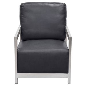 Zen Accent Chair - Stainless Steel, Black