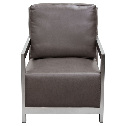 Zen Accent Chair Stainless Steel Elephant Gray Dcg Stores
