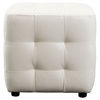 Zen Cube Accent Ottoman - Tufted, White - DS-ZENCUBEOTTOW