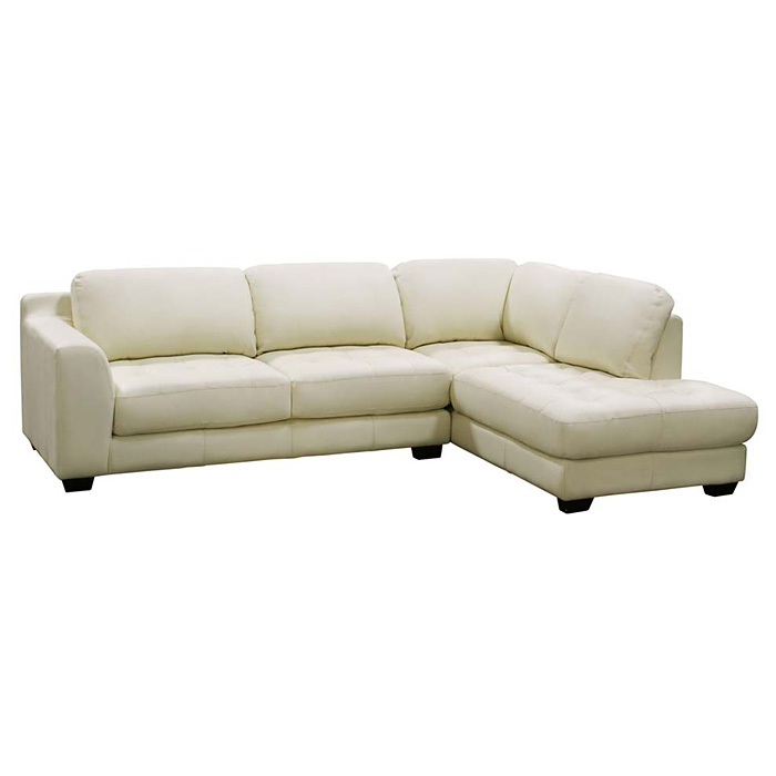 Zen Chaise Two Piece Leather Sectional - DS-ZENXF2PCSECTX