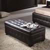 Zen Leather Lift Top Tufted Storage Trunk - DS-ZENSTORAGETRUNKX