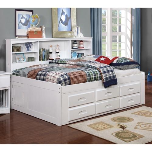 Bookcase Daybed 6 Drawers Underbed Storage White Dcg