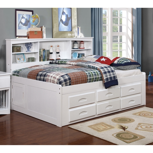 Bookcase Daybed 6 Drawers Underbed Storage White Dcg