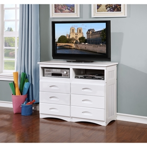 Entertainment Dresser - White