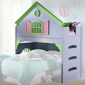 Nancy Doll House Loft Bed Ladder Pastel Colors