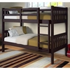 Maisie Twin Over Twin Slatted Bunk Bed - Dark Cappuccino Finish - DONC-1010-3CP