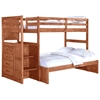 Orville Twin Over Full Staircase Bunk Bed - Chest, Cinnamon Wax - DONC-1012-2CN-TT-1012-2E