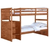 Orville Twin Over Twin Staircase Bunk Bed - Chest, Cinnamon Wax - DONC-1012-2CN-TT
