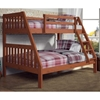 Maisie Twin Over Full Slatted Bunk Bed - Cinnamon Wax Finish - DONC-1018-3CN