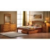 Isaac Wooden Dresser - 6 Drawers, Honey Finish - DONC-106H