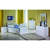 Gershwin Twin Cottage Trundle Bed - Round Knobs, White - DONC-103TW