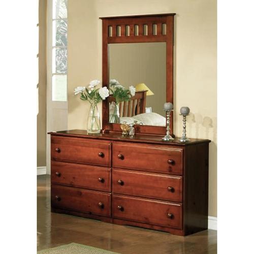 Isidore Wooden Dresser 6 Drawers Light Espresso Finish Dcg Stores