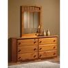 Isaac Wooden Dresser 6 Drawers Honey