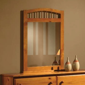Isaac Arched Frame Mirror - Spindles, Honey Finish
