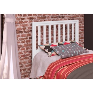 Pine Slat Headboard - Twin, White