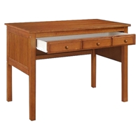 Isidore Study Desk - Drawer, Bead Board Sides, Light Espresso