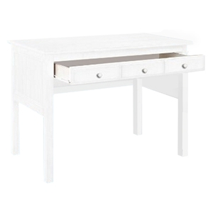 Isobel Study Desk - Drawer, Bead Board Sides, White