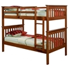 Luciana Mission Twin Bunk Bed - Light Espresso Finish, Bunkie Ready - DONC-120-3E-TT8