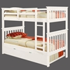 Luciana Mission Twin Bunk Bed - White Finish, Mattress Ready - DONC-120-3W-TT