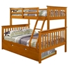 Luciana Mission Twin Over Full Bunk Bed - Honey Finish - DONC-122-3H
