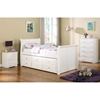 the latest 0e9ad d1401 Hattie Twin Size Sleigh Bed - Trundle, Drawers, White Finish