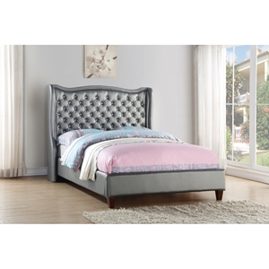 Full Madison Bed - Silver