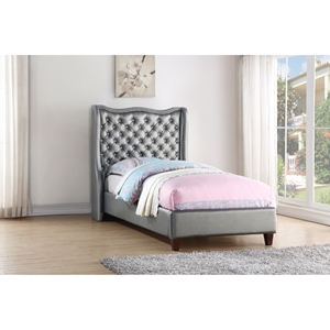 Twin Madison Bed - Silver